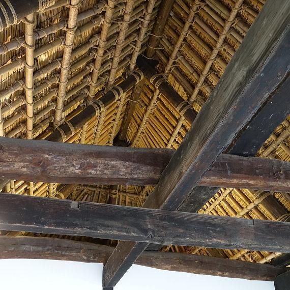 安井息軒旧家の屋根